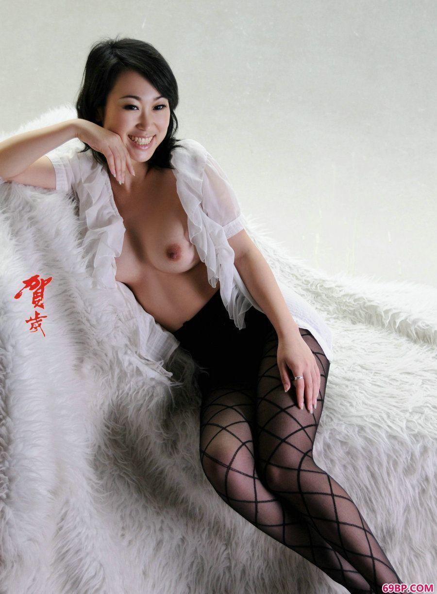 西西大胆人体摄影,贺岁系列苏蕾肉丝人体写真